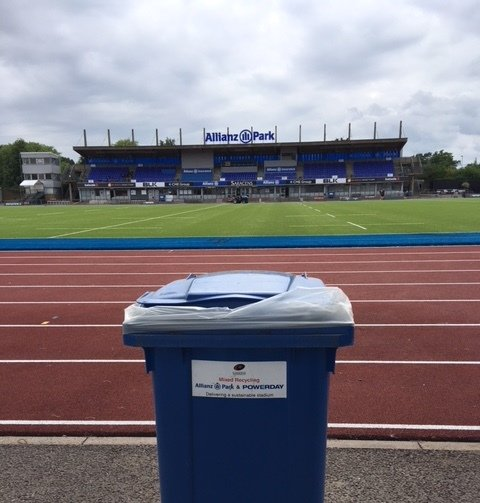 Powerday recycling bin at Saracens RFC club ground