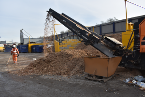 Wood recycling at Powerday